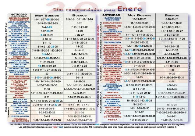 Calendario Lunar 2020 Espana.Espana Almanaque Lunar Agricola 2019 2020 Corte Cabello Unas Depilacion