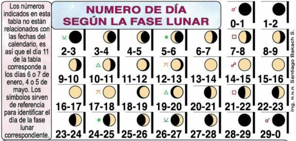 Fase Lunar del Nacimiento Calendario Lunar Medico 2019